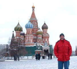 Eric Rebbert in Red Square