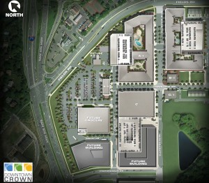 Downtown Crown Site Plan (courtesy of Bohler)