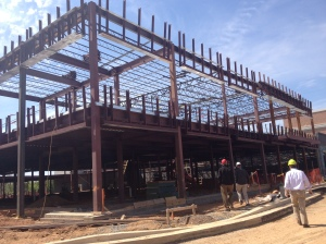 Steel framing for Building C!, future home of LA Fitness