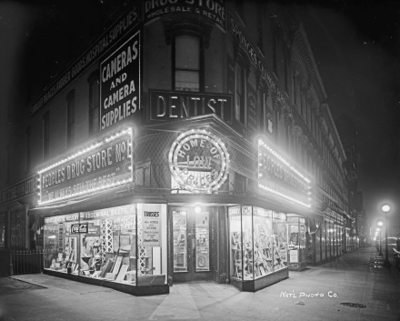 Peoples Drug Store 7th & K Sts, Washington, DC circa 1919