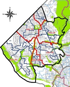 Ward 3 ANC and SMD Map, 2013