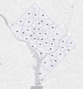 Washington, DC ANC Areas