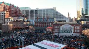 Just prior to construction of the new plaza, Sundance Square hosted ESPN for the week leading up to the 2011 Super Bowl.