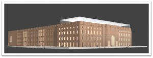 A rendering of Keuhn Malvezzi's Special prize winning proposal to replace the Palace of the Republic in Berlin.