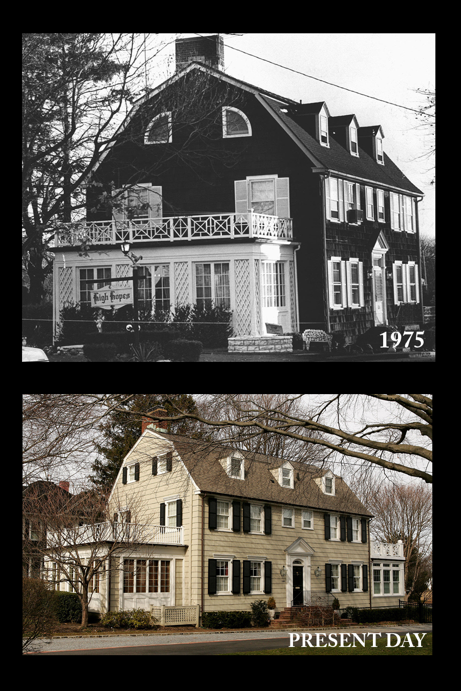 Amityville horror house before and after for The amityville house for sale