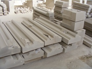 Custom limestone facade pieces for the Gaillard Center in Charleston, SC