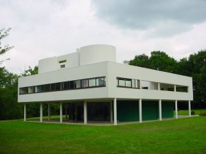 Le Corbusier's Villa Savoye in Poissy, France is an early Modernist building.