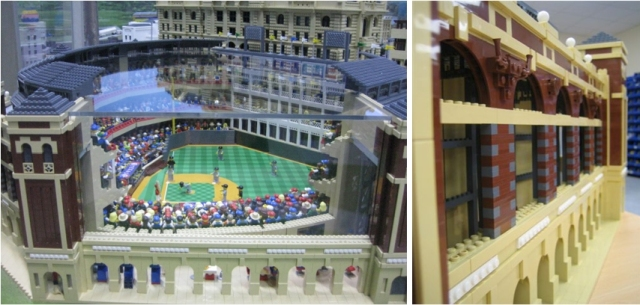 The LegoLand Discovery Centre in Dallas, TX recreated Texas Rangers Ballpark in Arlington completely out of Legos to celebrate their grand opening in 2011.