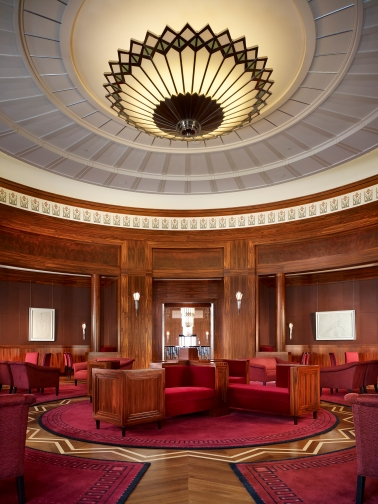 The Founders Room at The Smith Center for the Performing Arts epitomizes the way in which elements of a room relate wholly with one another.
