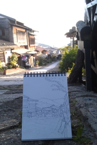 Sketching in Magome