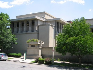 Frank Lloyd Wright's Unity Temple opened in 1908 and was designated a National Historic Landmark in 1970.