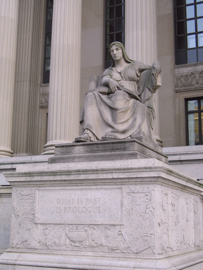 Future (1935, Robert Aitken) located on the northeast corner of the John Russell Pope's National Archives Building in Washington, D.C.
