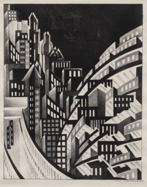 Louis Lozowick New York Lithograph, 1923 Credit line: Image courtesy of Mary Ryan Gallery, New York