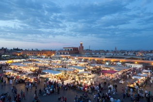 World famous Djemaa El-Fna public square