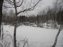 Dorest Quarry in Winter