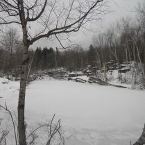 Dorest Quarry in Winter